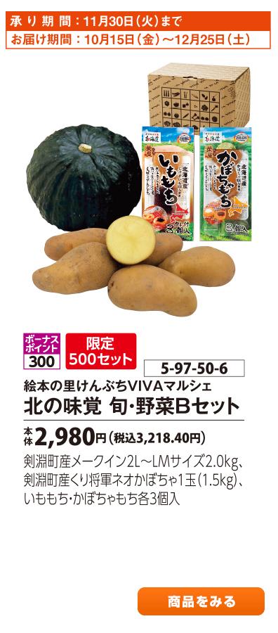 北の味覚 旬・野菜Bセット
