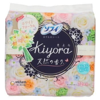 ユニチャーム ソフィ Kiyora フレグランス ホワイトフローラルの香り 72枚
